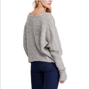 Like-new Free People Moonbeam V Sweater - Grey